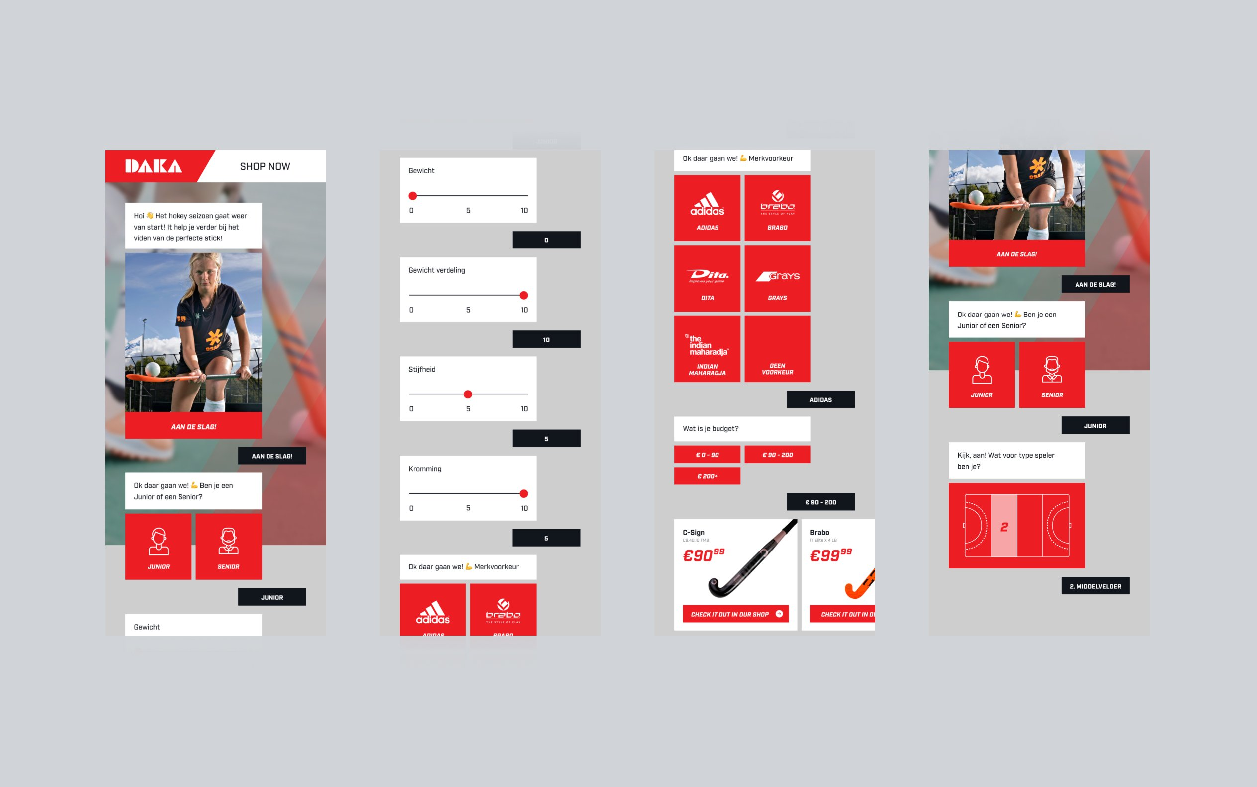 Image displaying different components of the UI design