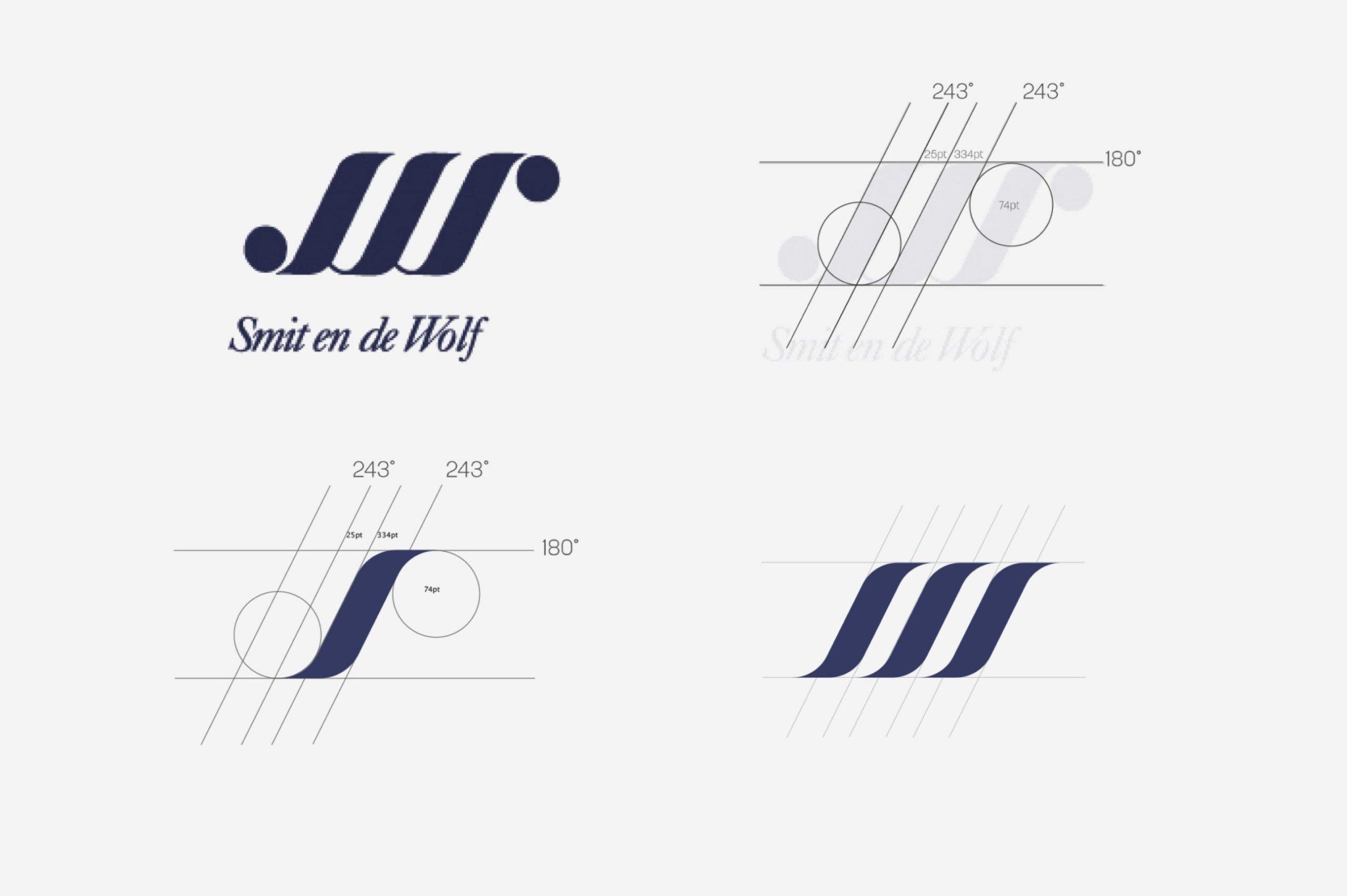 Image of the logo progression